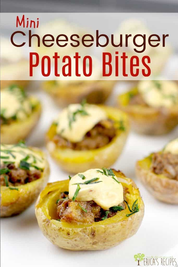 Mini Cheeseburger Potato Bites #DeansDreamBig #ad #recipe #food #partyfood #cheeseburger #partybite