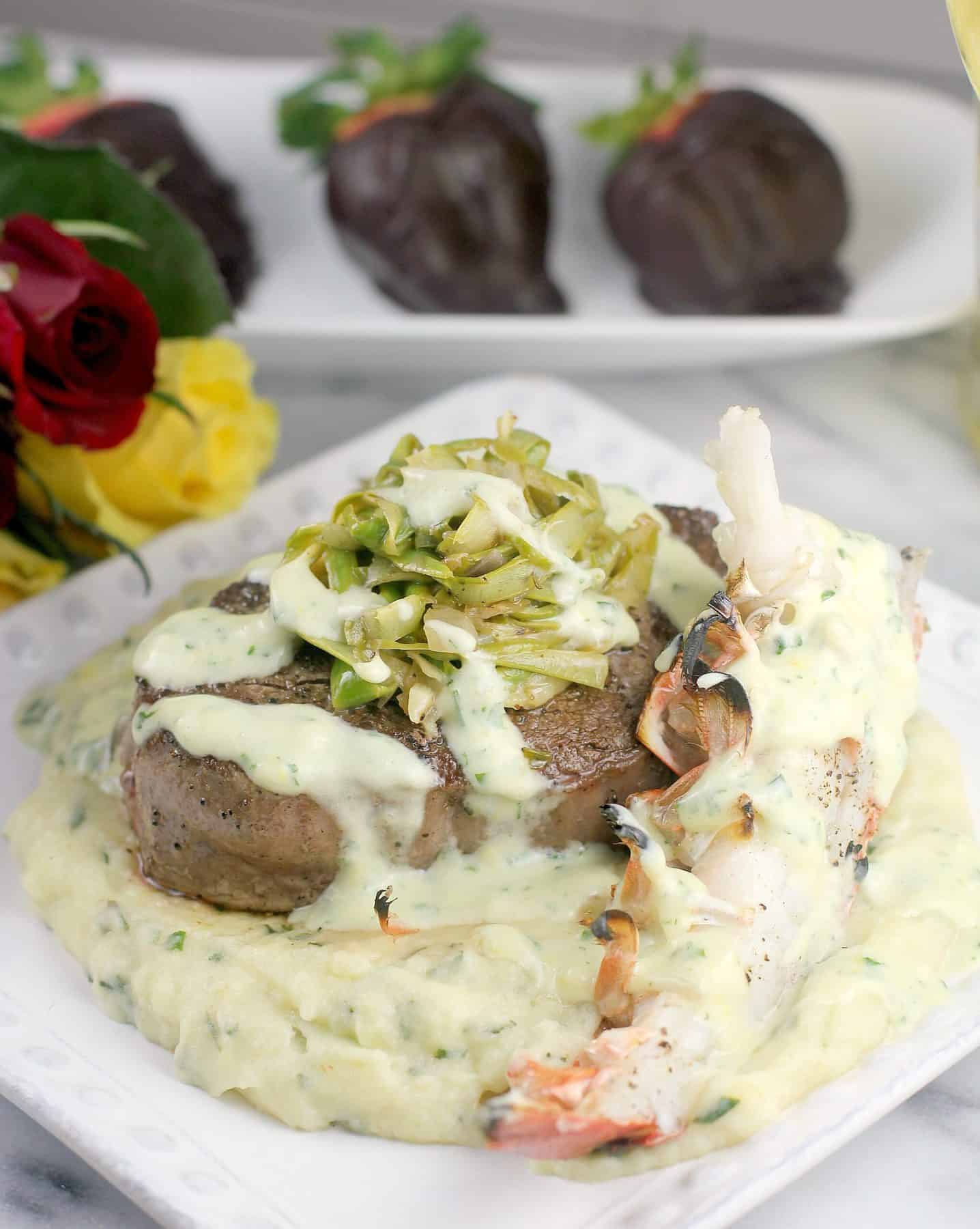 Valentine's Surf and Turf Filet Mignon and Lobster