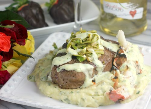 Msg 4 21+ Valentine's Surf and Turf Filet Mignon and Lobster #MyTFMValentine #TheFreshMarket #ad