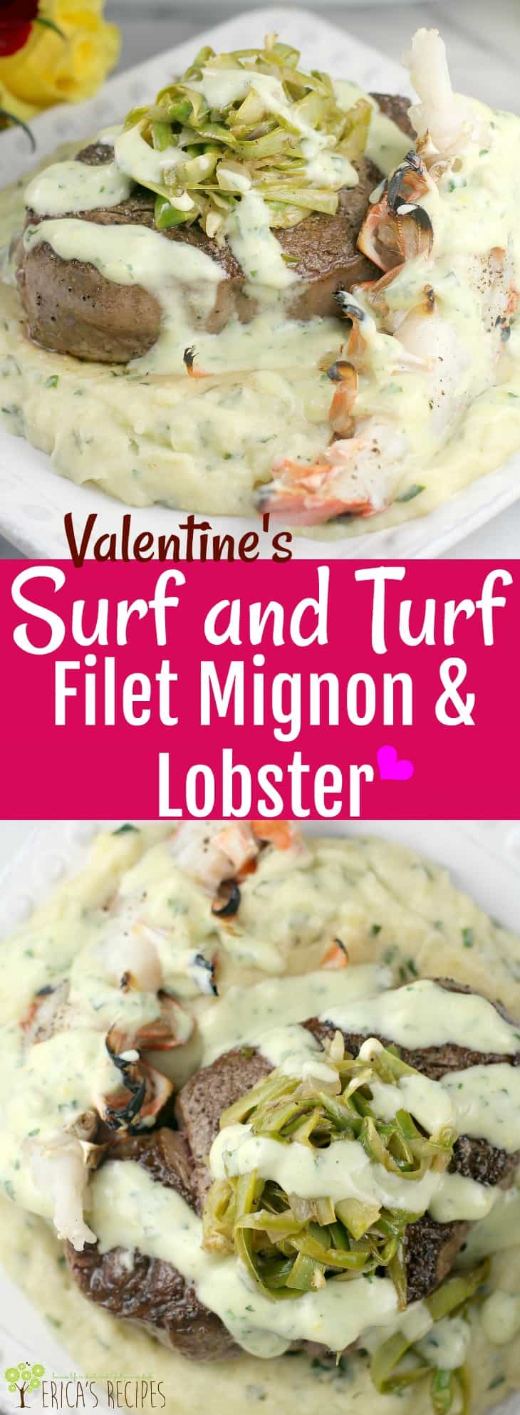 Msg 4 21+ Valentine's Surf and Turf Filet Mignon and Lobster #MyTFMValentine #TheFreshMarket #ad #recipe #food #valentinesday