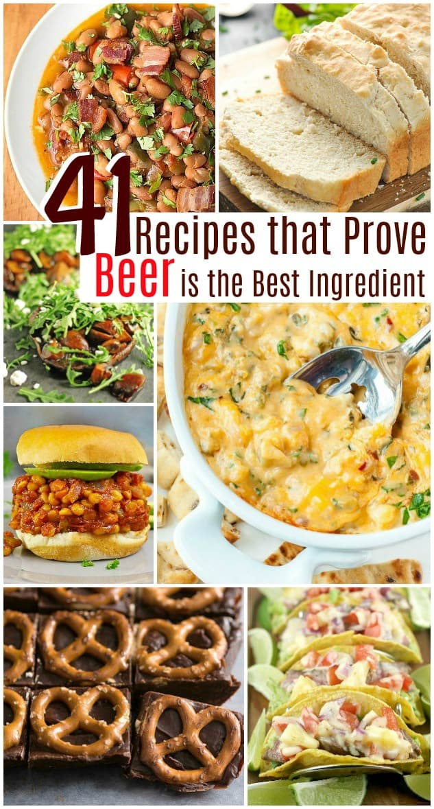 41 Recipes That Prove Beer is the Best Ingredient #roundup #food #recipes #beer #cooking #blog