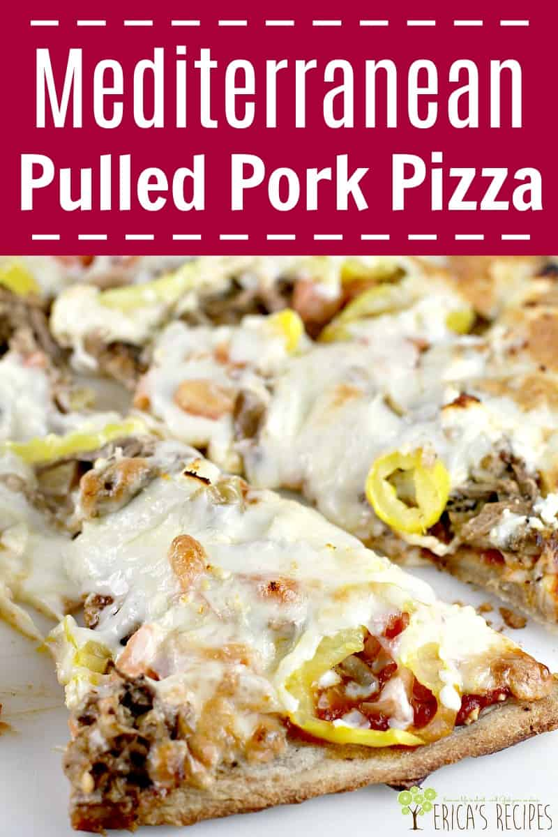 Mediterranean Pulled Pork Pizza #pizza #recipe #food #mediterranean #pulledpork