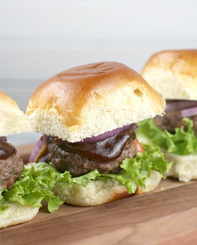 Port Cheddar Stuffed BBQ Sliders #InspireWithCheese #ad
