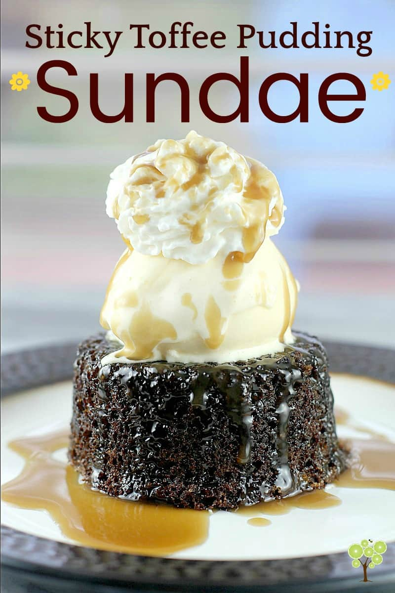 Sticky Toffee Pudding Sundae #MySummerSweets #ad #dessert #recipe #stickytoffeepudding #UK #sweets #cake