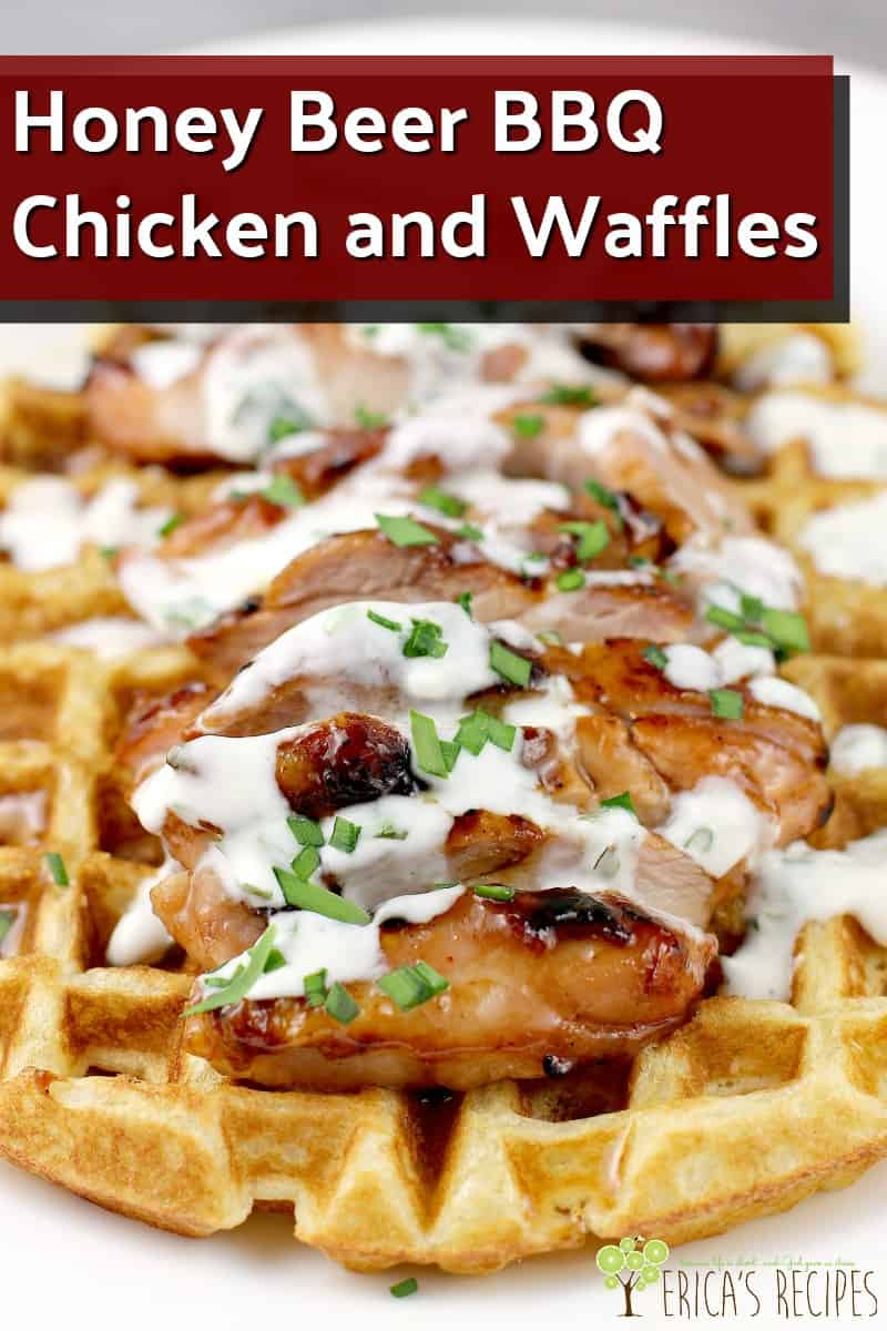 Honey Beer BBQ Chicken and Waffles