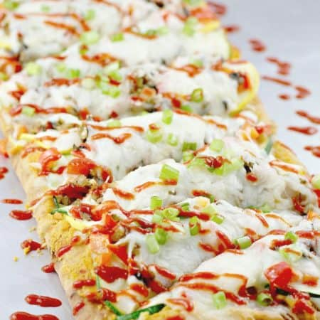 Spicy Vegetable Thai Flatbread