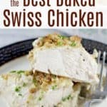 image for pinterest sharing with text overlay recipe title How to Make the Best Swiss Chicken
