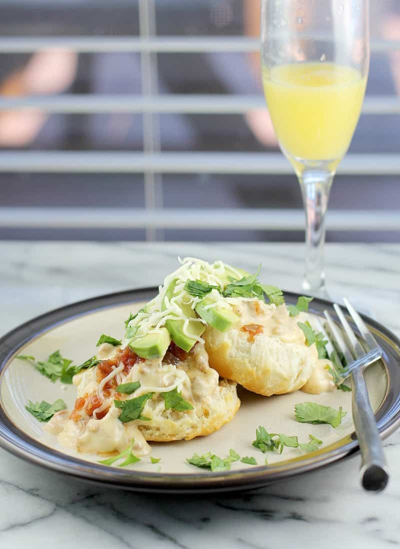 Mexican Chorizo Gravy and Biscuits