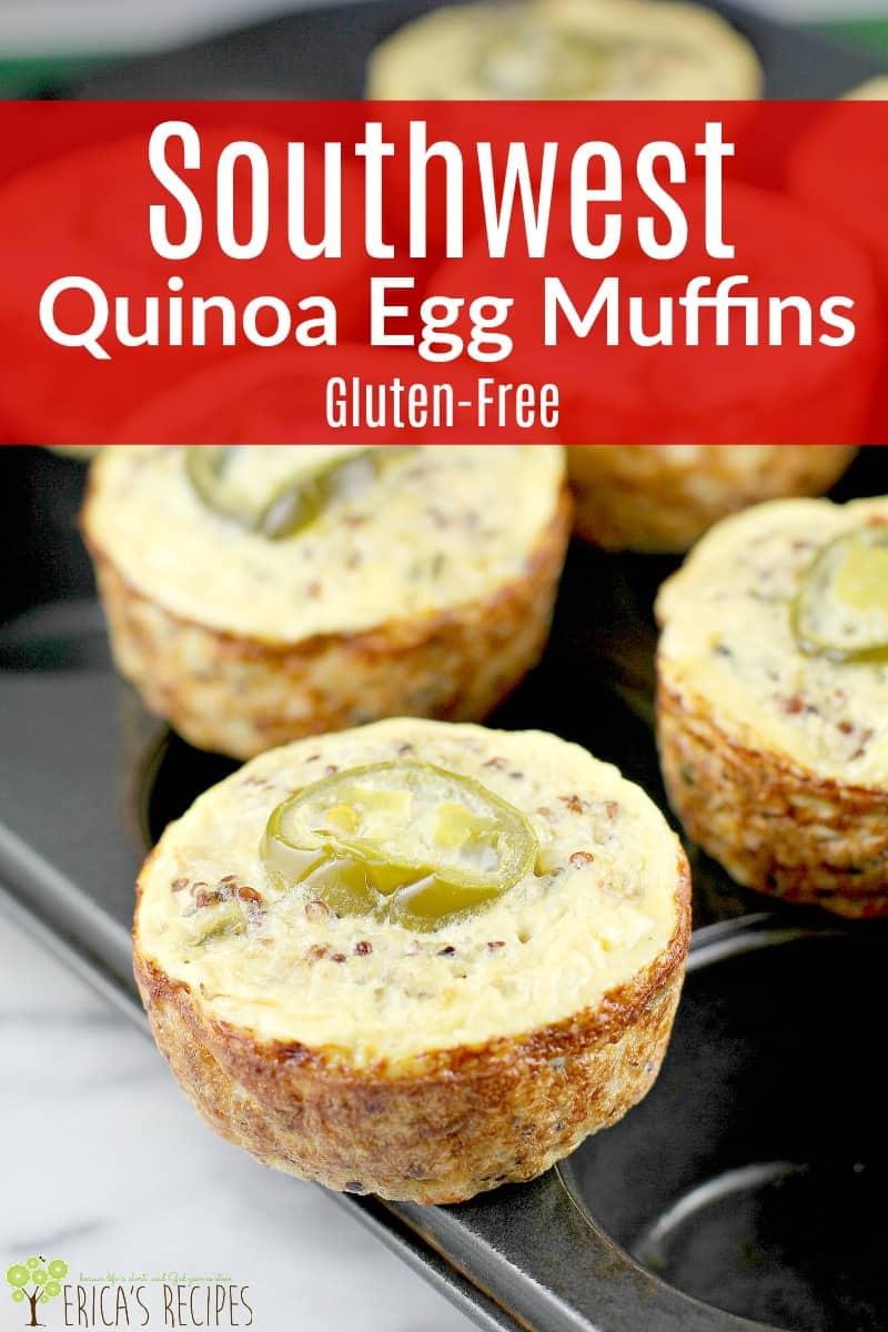 Southwest Quinoa Egg Muffins