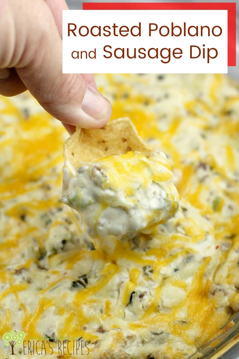 Roasted Poblano and Sausage Dip