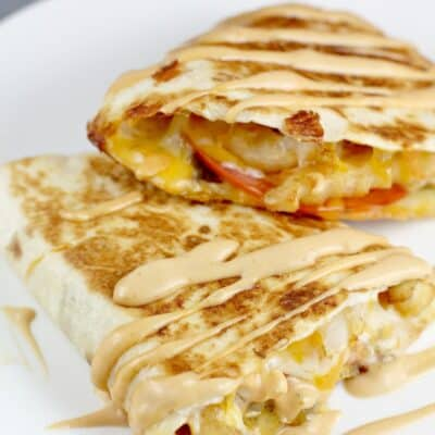 Cheeseburger and Fries Quesadilla