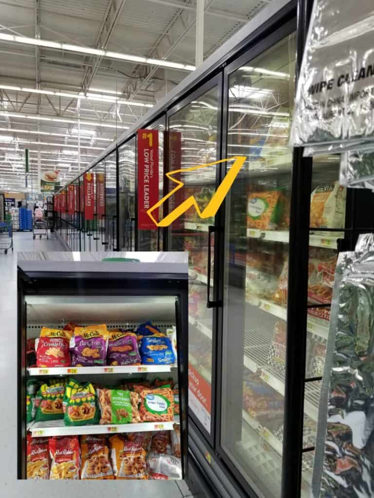 walmart aisle, freezer section