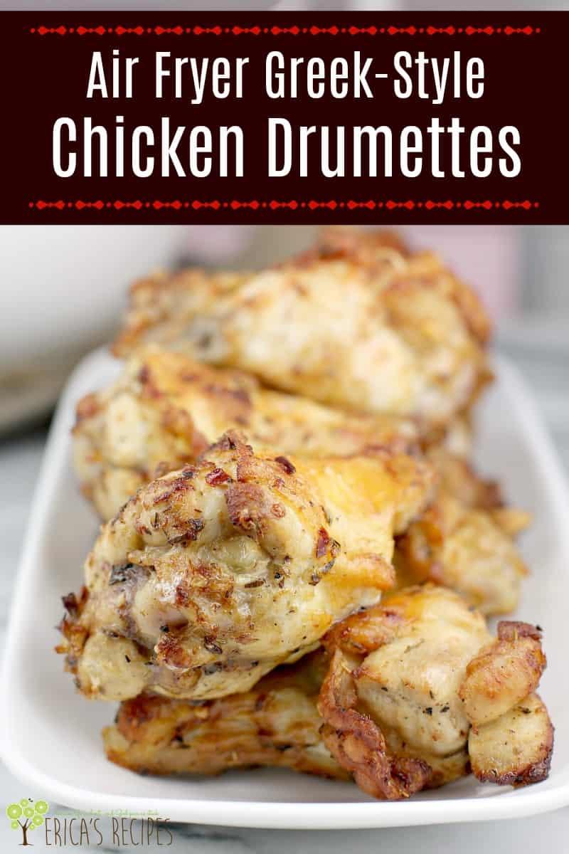 Greek Style Air Fryer Chicken Wings · Erica's Recipes