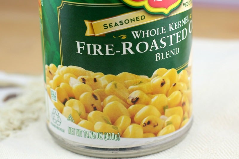 view of the fire-roasted canned corn to show what it looks like