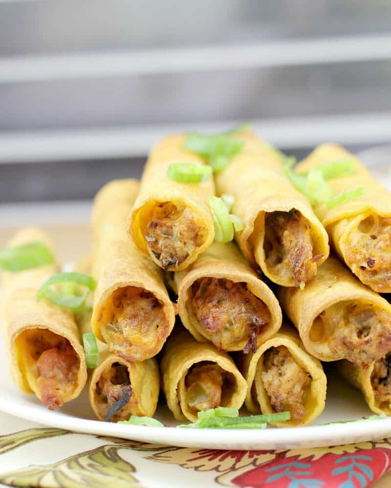 view of taquitos to show filling