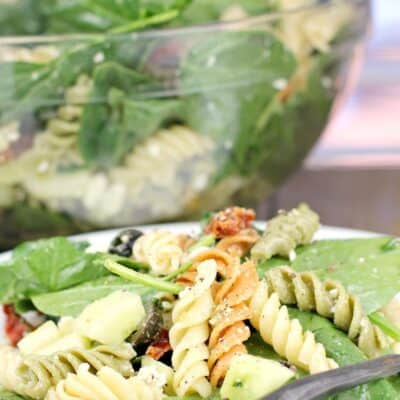Rotini Pasta Salad with Spinach