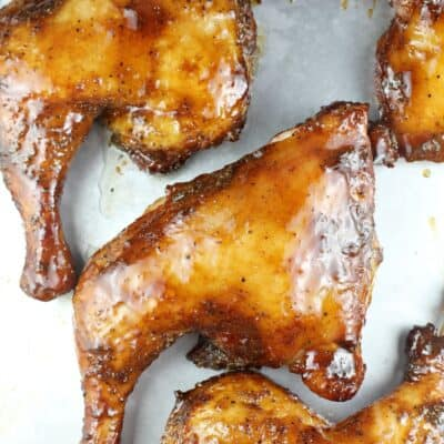 Maple Bourbon Smoked Chicken Quarters