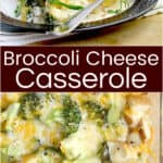 image for pinterest sharing with text overlay Broccoli Cheese Casserole