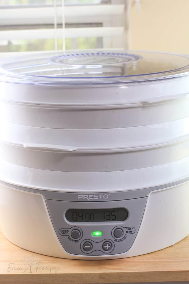 operating dehydrator