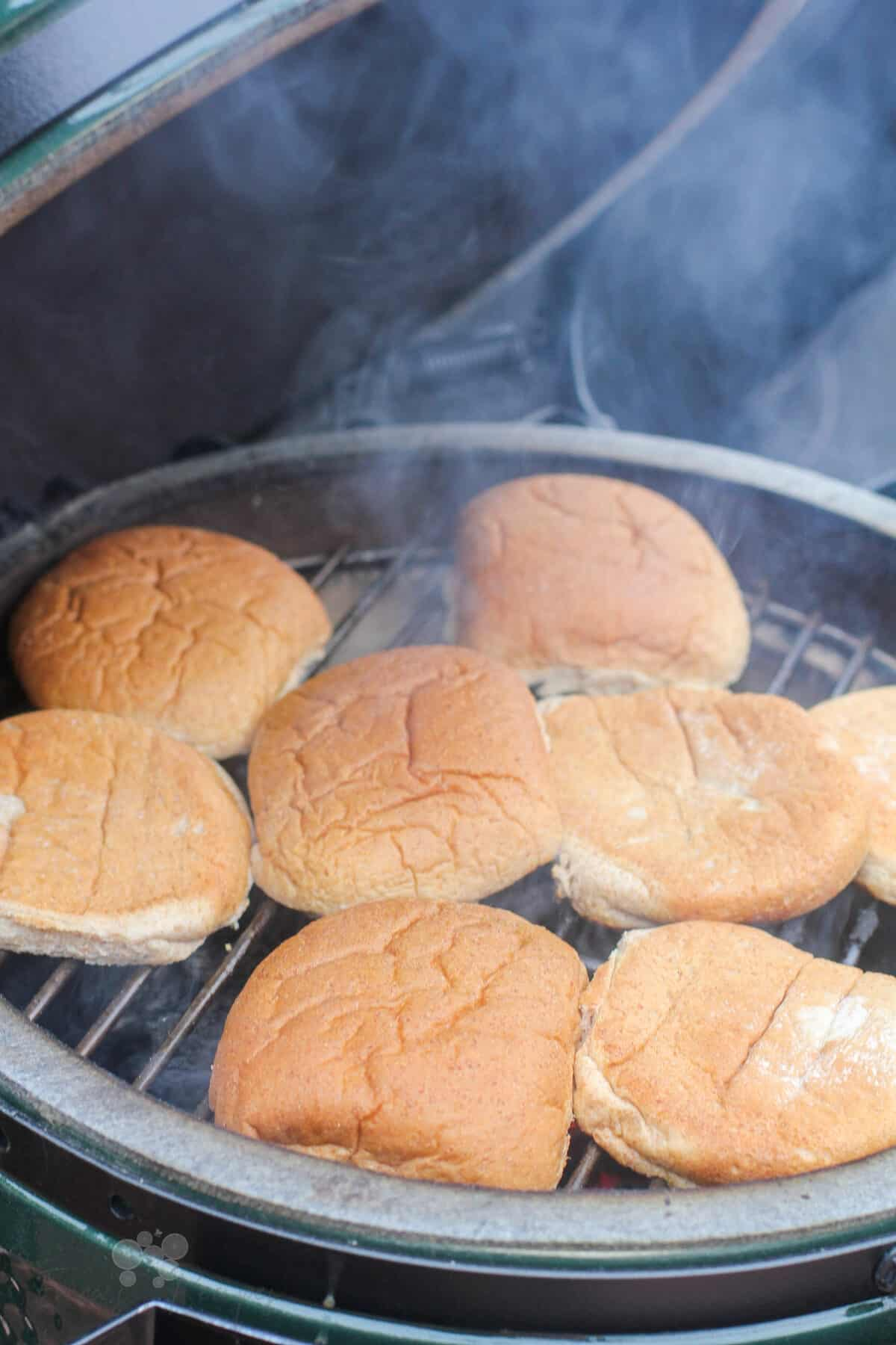 bins toasting on grill