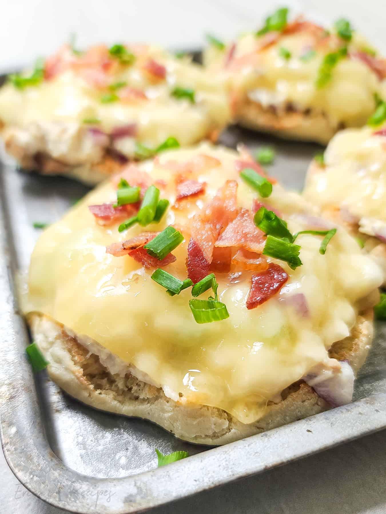 Open Faced Tuna Melt with Bacon