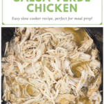 image for pinterest with text overlay recipe title 2 Ingredient Salsa Verde Chicken