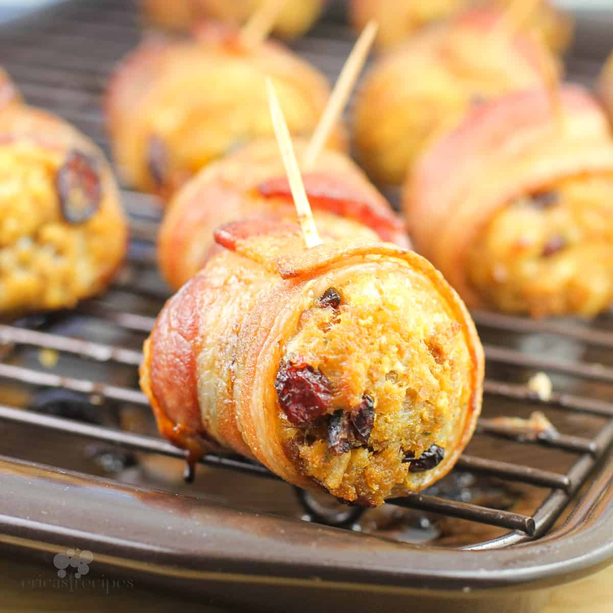 Bacon Wrapped Stuffing Balls